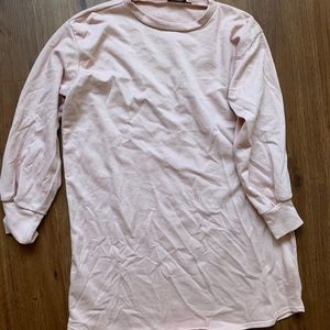 Oversized pink sweater from PLT